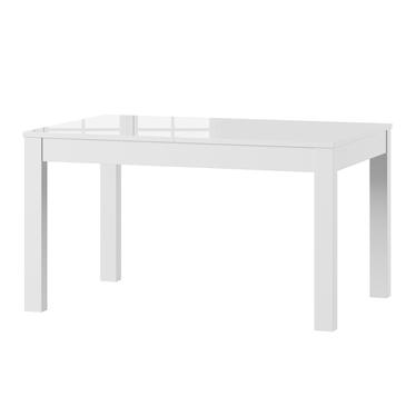 Stół rozkładany Ligos 136-210x90 cm biały połysk