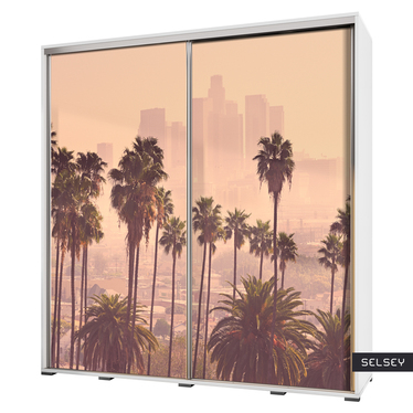Szafa Wenecja 205 cm Los Angeles z palmami