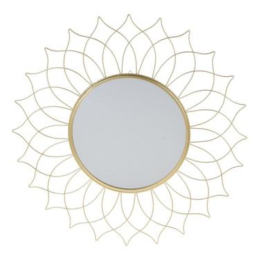Lustro Mandala złote o średnicy 50 cm