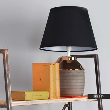Lampa stołowa Nadine z podstawą o średnicy 15 cm podłużna