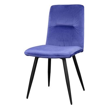 Krzesło tapicerowane Mosterio niebieski velvet