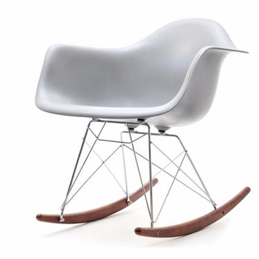 Fotel bujany MPA ROC szary designerski bujak z podłokietnikami