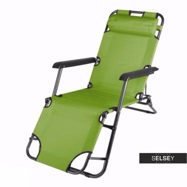 Leżak ogrodowy Birket zielony