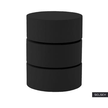 Stolik kawowy Kalnik o średnicy 40 cm czarny