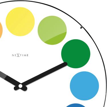 Zegar szklany Dots Dome średnica 35cm