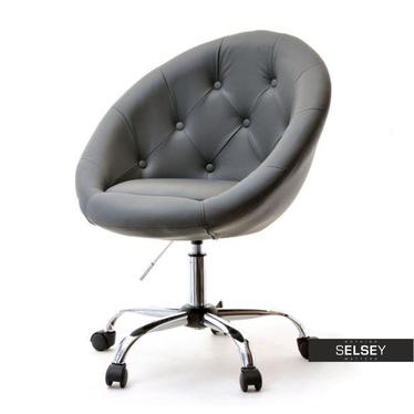 Fotel biurowy Lounge 4 szary tapicerowany
