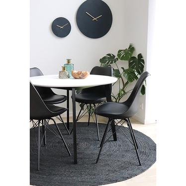 Zestaw dwóch krzeseł Avihu czarne na czarnych nogach