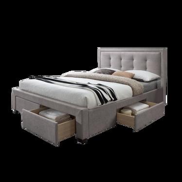 Łóżko tapicerowane z szufladami Totti