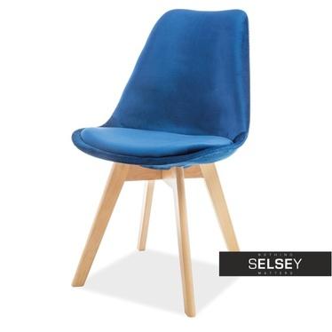 Krzesło Luis granatowe I