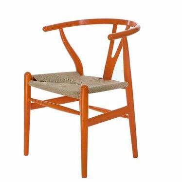 Krzesło Wicker pomarańczowe