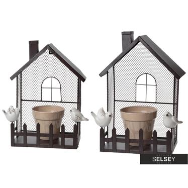 Domek z doniczką