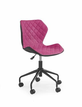 Fotel biurowy Forint czarno-różowy