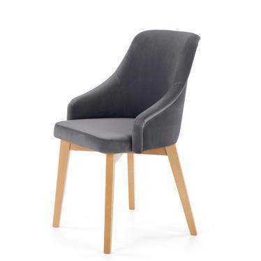 Krzesło Vilor ciemnoszare - dąb miodowy