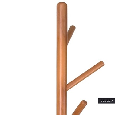 Wieszak stojący Sellon 170 cm biały-buk