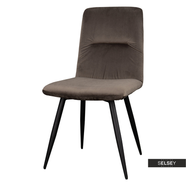 Krzesło Mosterio brązowy velvet
