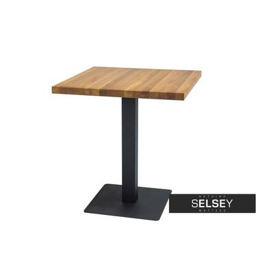 Stół Divock 60x60 cm z fornirem dębowym
