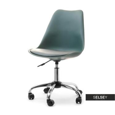 Fotel  biurowy Luis move zielony mobilny