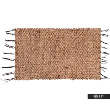 Dywan Makrama 45x70 cm prostokątny pleciony z trawy morskiej
