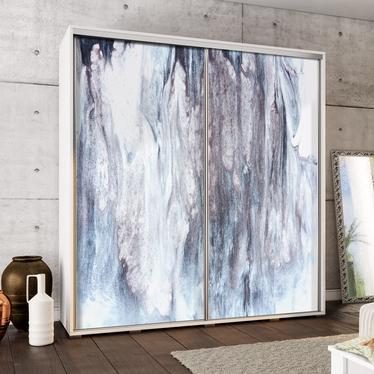 Szafa Wenecja 205 cm Błękitny marmur