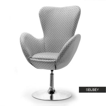 Fotel obrotowy Jacob modern - chrom uszak