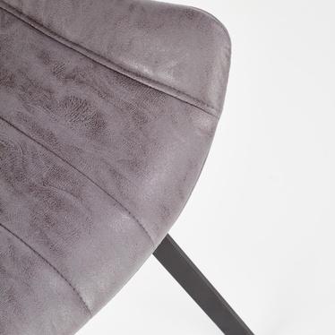 Krzesło tapicerowane Delika popielate ekoskóra