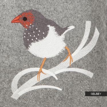 Poduszka z poszewką Bird szara 45x45 cm