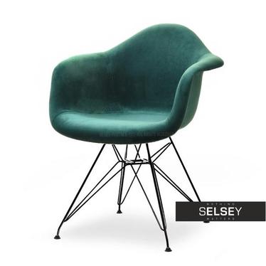 Krzesło MPA rod tap zielony - czarny welurowe