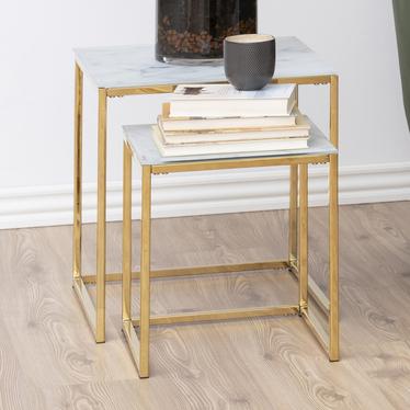 Zestaw dwóch stolików kawowych Bakar 45x45 cm i 35x35 cm