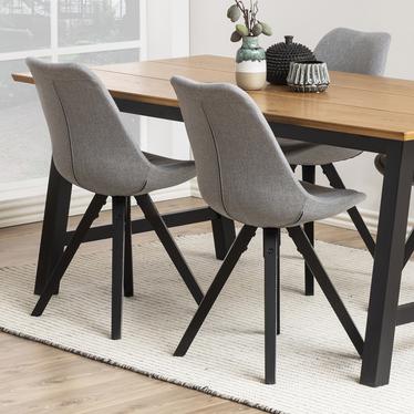 Krzesło Djum szaro - czarne
