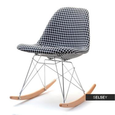 Krzesło bujane MPC roc tap pepitka w nowoczesnym stylu