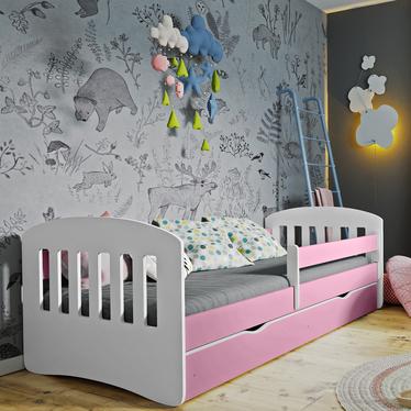 Łóżeczko dziecięce Pamma różowe