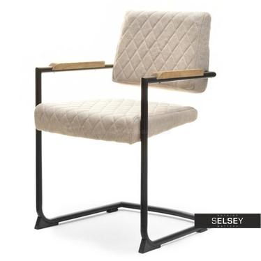 Krzesło Berion kremowo-czarne lewitujące
