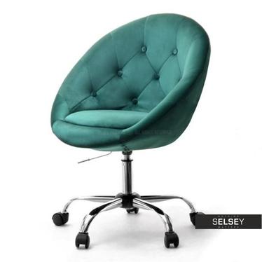 Fotel biurowy Lounge 4 zielony Velvet