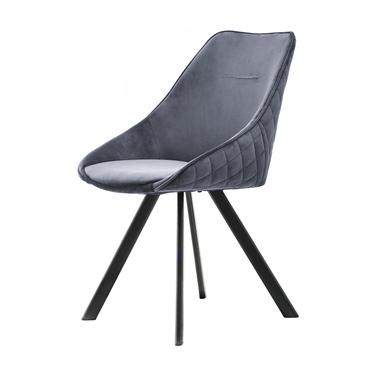 Krzesło Jonas szare na czarnych nogach