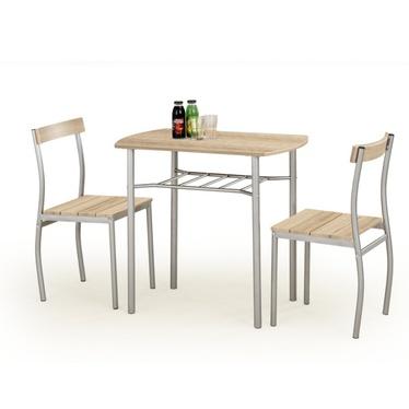 Stół z krzesłami Parra dąb sonoma