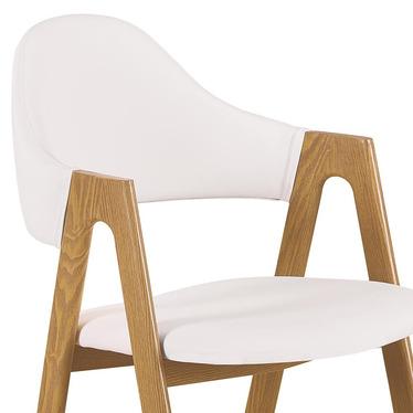 Krzesło Sherris białe - dąb miodowy