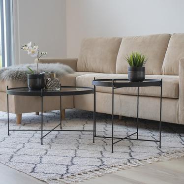 Stolik kawowy Marcolino średnica 48 cm czarny