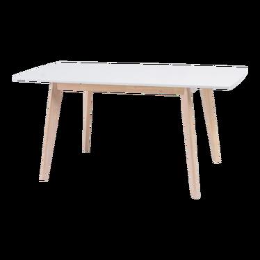 Stół Mejls 120(160)x80 cm z bieloną podstawą