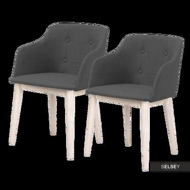 Zestaw dwóch krzeseł Amati szare