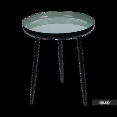 Stolik kawowy Cilian średnica 37 cm miętowy połysk celadon
