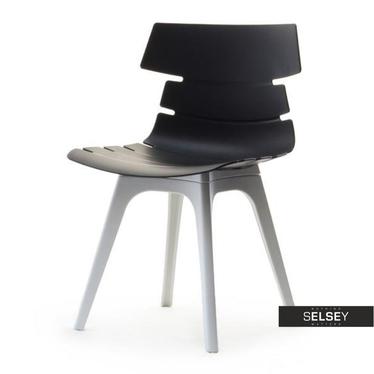 Krzesło Zac dsx czarno-białe z tworzywa