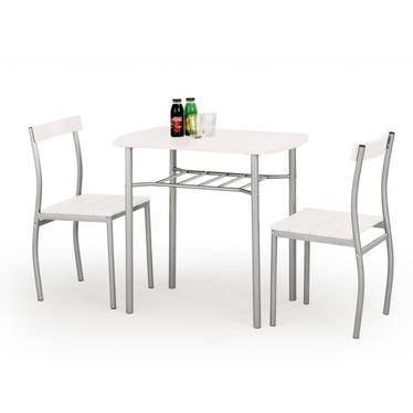 Stół z krzesłami Parra biały