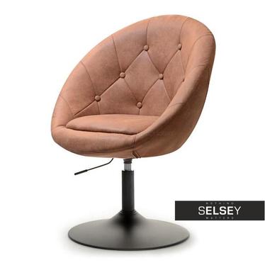 Fotel Lounge 3 brązowo - czarny matowy z regulacją