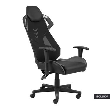 Fotel gamingowy Levedor czarno-szary