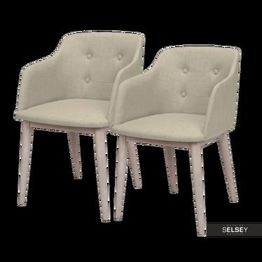 Zestaw dwóch krzeseł Amati beżowe