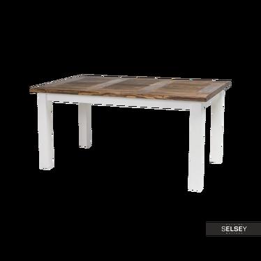 Stół Paprot 160x90 cm brunatny