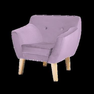 Fotel Lotta różowy welur