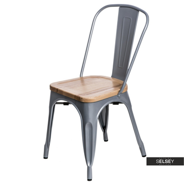 Krzesło Paris Wood jesion - szare