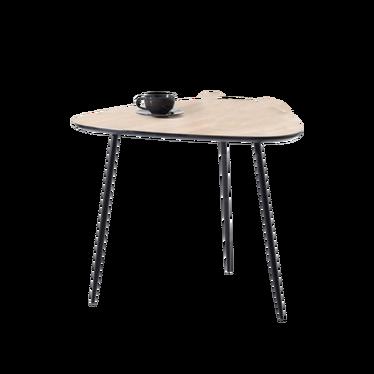 Stolik kawowy Rosin 59x56 cm dąb sonoma - czarny