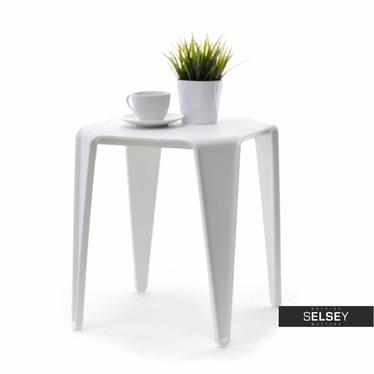 Stolik kawowy Bay 40x40 cm biały z tworzywa